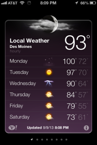See, it's hot.